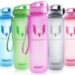 MAIGG Best Sports WasserFlasche Trinkflasche – Eco Friendly & BPA-freiem Kunststoff – für das Laufen, Fitness, Yoga, Im Freien und Camping – 500ml & 1000ml – Schnelle Wasserdurchfluss , Flip Top, öffnet sich mit 1-Click – Wiederverwendbare mit dicht schließendem Deckel Lila, 500ml-17oz