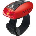 Sigma Sport Beleuchtung Micro – Rücklicht LED rot, permanent leuchtend / blinkend, 20 g, spritzwassergeschützt, Fahrradlampe, Sicherheits-Leuchte, Helmleuchte