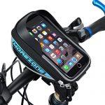 Fahrradtasche Rahmentaschen, MOREZONE Fahrrad Rahmentasche Frarradschnalletasche mit zwei Fäche, geeignet für Handy mit Größe unten 5,5″, Farhradlenkertasche Fahrradtasche Lenker