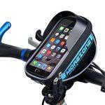 MOREZONE Farhradlenkertasche Telefonhalter Handy Fahrradtasche Smartphone Lenker Lenkertaschen mit Größe unten 5.5 inch Blau