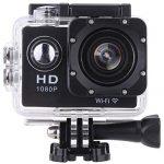 Vemont Action Kamera 2,0 Zoll Bildschirm, WIFI 12MP Full HD 1080P 30m/98 Fuß Wasserdichte Sports Kamera 170°Weitwinkel mit Zubehör Kits Schwarz