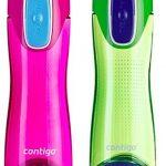 Contigo Swish Autoseal 500ml Wasser Flasche–2Pack–Citron & Magenta