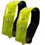 Timtina Reflektorbänder Sicherheits Reflektorstreifen Armreflektoren mit leuchtstarken LED 2