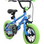 BIKESTAR Kinderfahrrad für Mädchen und Jungen ab 3-4 Jahre   12 Zoll Kinderrad Kinder BMX Freestyle   Fahrrad für Kinder Blau & Grün