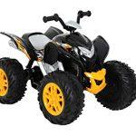 ROLLPLAY Elektro-Quad, Für Kinder ab 3 Jahren, Bis max. 35 kg, 12-Volt-Akku, Bis zu 4,5 km/h, Powersport ATV, Schwarz