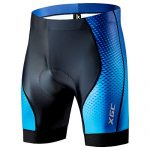 XGC Herren Kurze Radlerhose und Radunterhose Radsportshorts Fahrradhose für Männer elastische atmungsaktive 4D Schwamm Sitzpolster mit Einer hohen Dichte 2XL, Black_Blue