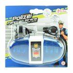 Toi-Toys 55008A – Fahrradlampe Polizei mit Sirene und Blaulicht