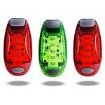 TBoonor LED Sicherheitslicht Clip auf LED Blinklicht Running Lichter für Läufer, Jogger, Wanderer, K 2 Rot 1 Grün