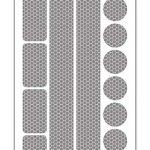 13 Reflektoraufkleber Set für Kinderwagen, Fahrrad und Helme – Caresafe Reflektierende Licht Reflektoren Aufkleber – Reflektor Leuchtaufkleber Sticker