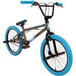 DETOX Rude 20 Zoll BMX Fahrrad Bike Freestyle Street Park Rad Modell 2019 Anfänger ab 140 cm 4 x Stahl Pegs 360° Rotor grau/blau