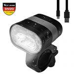 LED Fahrradlicht Set, StVZO Zugelassen USB Wiederaufladbar Fahrradbeleuchtung, Wasserdicht Frontlicht Rücklicht, 3200mAh 320Lumen Fahrradscheinwerfer Fahrradlampe Radsport Zubehör Schwarz-A