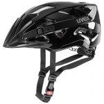 uvex UnisexErwachsene active Fahrradhelm, black shiny, 56-60 cm