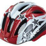 KED Fahrradhelm Meggy, Red Stars, 49-55 cm, 15409122SM