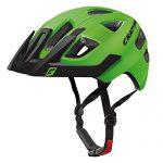 Cratoni Kinder Maxster Pro Fahrradhelm, Lime/Black Matt, XS-S