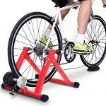 Sportneer Fahrrad Rollentrainer Stahl Fahrrad Übung Magnetischer Ständer mit Geräusch Reduktions Rad Rot