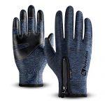 T98 Touchscreen Handschuhe, Fahrradhandschuhe Laufhandschuhe Winter Warme Sporthandschuhe Herren Damen Winddicht Wasserdichter Winterhandschuhe für Radfahren, Wandern, SkifahrenBlue, XL
