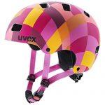 uvex Unisex Jugend, kid 3 cc Fahrradhelm, red checkered, 51-55 cm