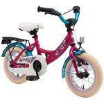 BIKESTAR Kinderfahrrad für Mädchen ab 3-4 Jahre | 12 Zoll Kinderrad Classic | Fahrrad für Kinder Berry & Türkis | Risikofrei Testen