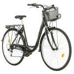 Multibrand Probike 28 City Zoll Fahrrad 7-Gang Urbane Cityräder for Heren, Damen, Unisex Schwarz 510 mm Schwarz, 510