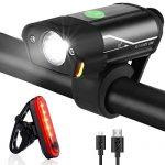 Wasserdicht Fahrrad Licht USB Wiederaufladbare Fahrradlichter StVZO Zugelassen – Fahrradbeleuchtung Frontlicht und Rücklicht Fahrradlampe – Tatopa Fahrradlicht Led Set