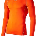 Under Armour Herren Fitness T-Shirt und Tank Hg Long Sleeve Comp, Dunkel Orange, Gr. XXL Herstellergröße XXL