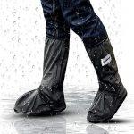 Hospaop Regenüberschuhe Fahrrad Wasserdicht Schuhe Überschuhe Mehrweg Schnee Staub Schutz und rutschfeste Schuhüberzieher für Outdoor Camping Radfahren Bergsteigen-UnisexS
