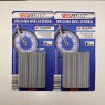 SECUREFLECT Speichenreflektoren 72 STK. für 1 Fahrrad mit 3MTM-ScotchliteTM-Reflexmaterial ORIGINAL