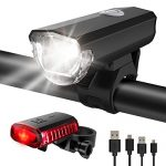 ITSHINY Fahrradlicht – Fahrradlicht USB Aufladbar, StVZO Zulassung Fahrradlampe Aus Aluminium LED, Fahrradbeleuchtung Set Wasserdicht 2 Licht-Modi Frontlicht und Rücklicht Set