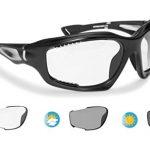 tSelbsttönend Sonnenbrille Kat.0 bis 3 – BERTONI Photochrome Antibeschlag Windschutz Sportbrillen für Extremsport – F1000A Matt Schwarz
