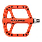 ROCKBROS Fahrradpedale Nylon Composite Flatpedale 9/16 Mountain Bike Pedale 3 Bearing rutschfest Wasserdicht Anti-Staub Orange 2