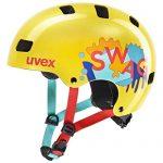 uvex Unisex Jugend, kid 3 Fahrradhelm, yellow, 55-58 cm