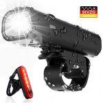 Wasserdicht Fahrradlichter USB Wiederaufladbare Fahrradbeleuchtung – Pezimu Fahrradlicht LED Set – StVZO Zugelassen Frontlicht Rücklicht Fahrradlampe Set