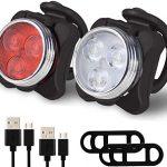 Clonic LED Lampe Set | USB Wiederaufladbare Weißlicht, Rotlicht Set | Aufladbar Akku,4 Licht-Modi, 2 USB-Kabel für Sicherheitslicht